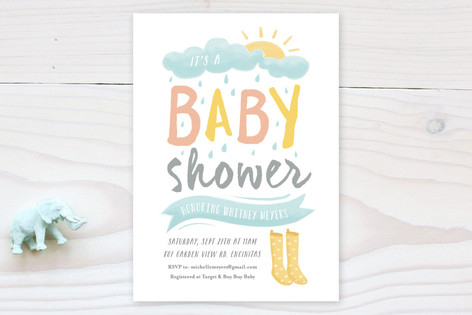 Wellies Baby Shower Invitations