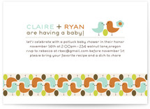 birds with golden egg Baby Shower Invitations