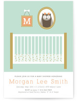 Baby Owl Nursery Baby Shower Invitations