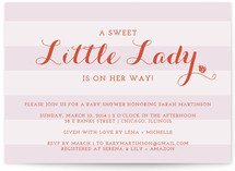 The Little Lady Baby Shower Invitations