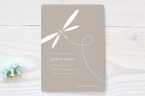 Swooping dragonfly baby shower invitations by kell minted swooping dragonfly baby shower invitations filmwisefo
