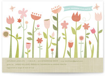 Butterfly Garden Baby Shower Invitations