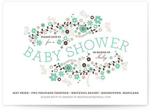 Floral Shower Baby Shower Invitations