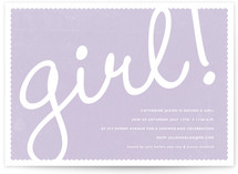 Girl! Baby Shower Invitations