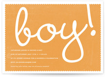 Boy! Baby Shower Invitations