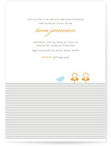 Classic Stripes &amp; Sprouts Baby Shower Invitations