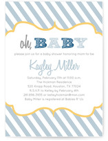 Oh Boy Baby Shower Invitations
