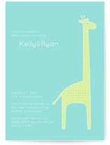 dotty the giraffe Baby Shower Invitations