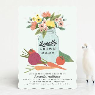 farmers market Baby Shower Invitations