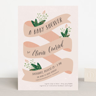 Banner Baby Baby Shower Invitations