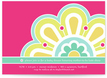 Flower Power Baby Shower Invitations