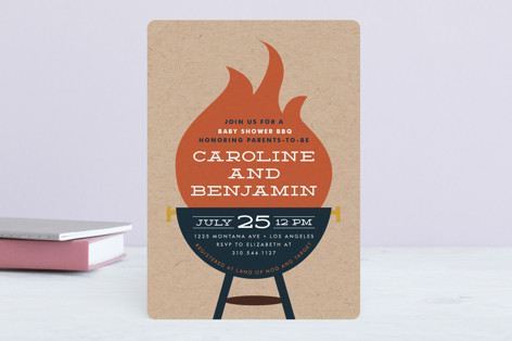 Backyard Baby-Q Baby Shower Invitations