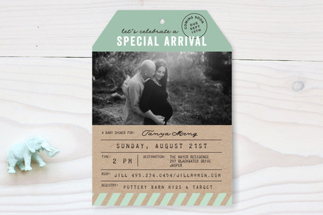 Special Arrival Baby Shower Invitations
