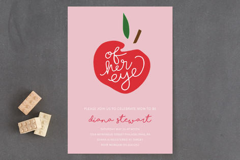 Apple of her Eye Baby Shower Invitations