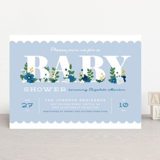 Sweet Blooms Baby Shower Invitations