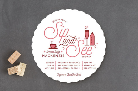 Sip N See Baby Shower Invitations
