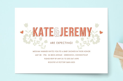 modern folk Baby Shower Invitations