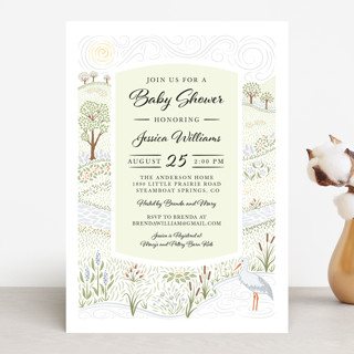 Little Prairie Baby Shower Invitations