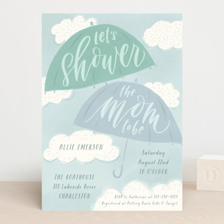 A Chance of Showers Baby Shower Invitations