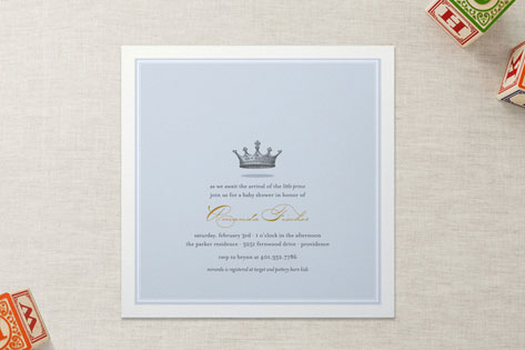 Our Little Prince Baby Shower Invitations By Katie Minted