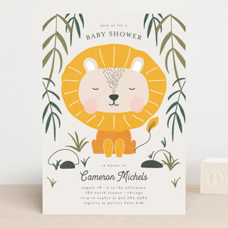 Mr. Lion Baby Shower Invitations