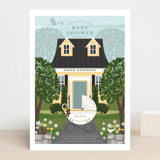 Just Delivered Baby Shower Invitations