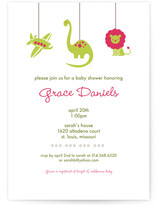 planes dinos &amp; lions Baby Shower Invitations