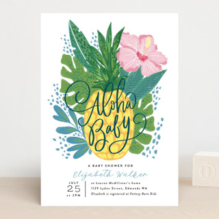 Aloha Baby Pineapple Baby Shower Invitations