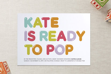 Ready to pop baby shower invitations by kristy wla minted ready to pop baby shower invitations filmwisefo