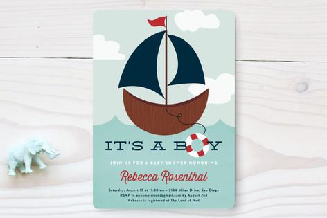 Ahoy, Boy! Baby Shower Invitations