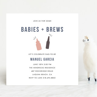 Babies and Brews Baby Shower Invitations