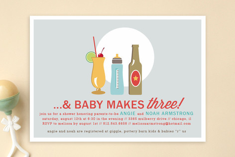 Drinks All Around Baby Shower Invitations By Jenni Minted