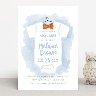 Bow Tie Baby Baby Shower Invitations