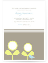 Spring Sprouts &amp; the Birdie Baby Shower Invitations