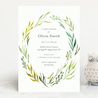 Circlet Baby Shower Invitations
