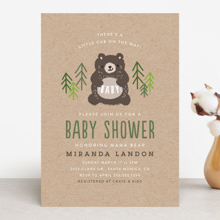 Mama Bear Baby Shower Invitations