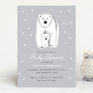 Polar Bear Baby Shower Invitations