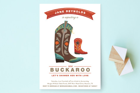 New Buckaroo Baby Shower Invitations