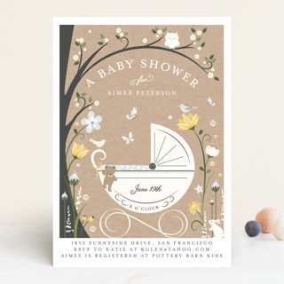 Fairytale Stroll Baby Shower Invitations