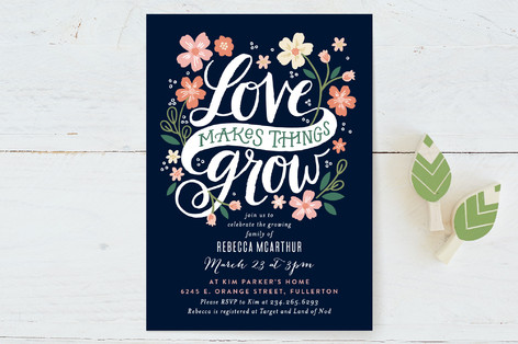 Love Grows Baby Shower Invitations