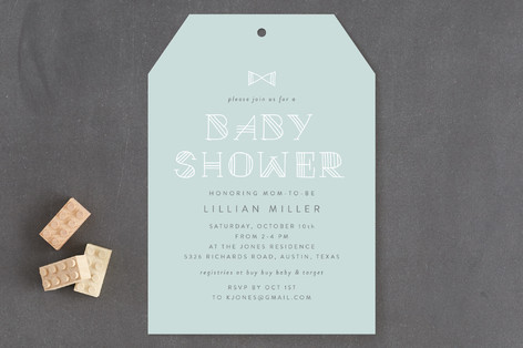 New Little Man Baby Shower Invitations