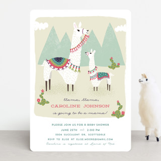 Llama, llama Baby Shower Invitations