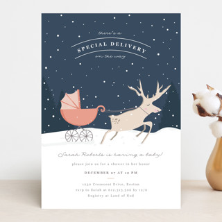 Oh Deer Baby Shower Invitations