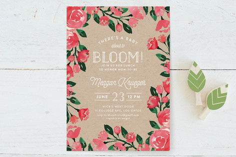 Baby Bloomer Baby Shower Invitations
