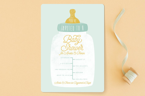 Bottle Baby Shower Invitations