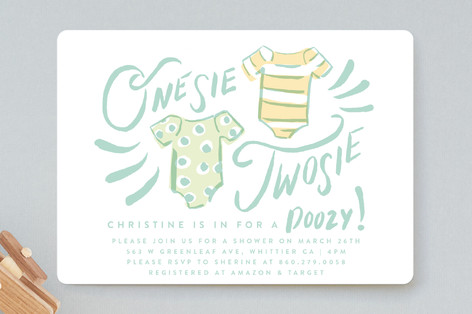 Onesie Twinsies Baby Shower Invitations