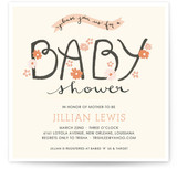 The Cheerful Baby Baby Shower Invitations
