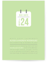 Due Date Baby Shower Invitations