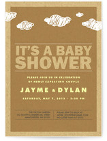 It's Raining Babies Baby Shower Invitations