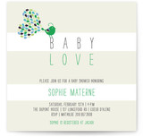 Petit Oiseau Baby Shower Invitations